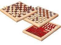 keine Angabe Schach-Dame-Set Holzbox 32x32cm