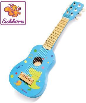 Eichhorn Holzgitarre blau
