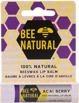 Bee Natural Lippenpflege-Stift Acai Beere (4,25g)