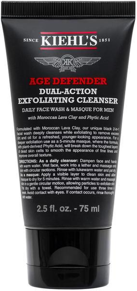Kiehl's Men Age Defender Dual-Action Exfoliating Cleanser (75ml)