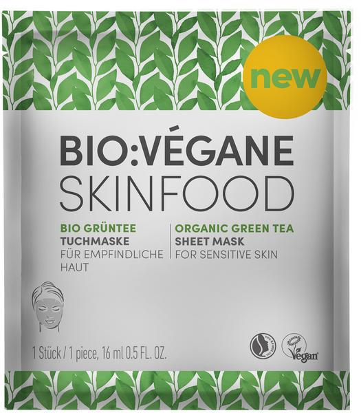 Bio:Végane Tuchmaske Skinfood Bio-Grüntee