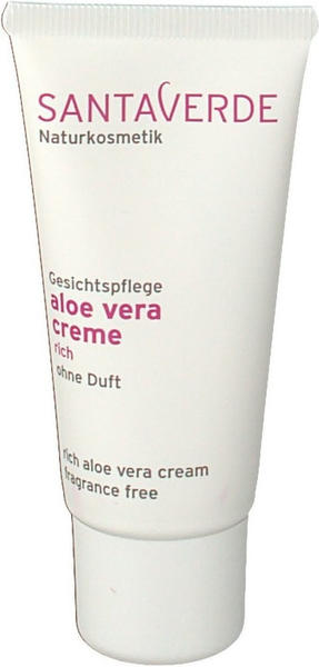 Santaverde Aloe Vera Creme Rich ohne Duft (30ml)