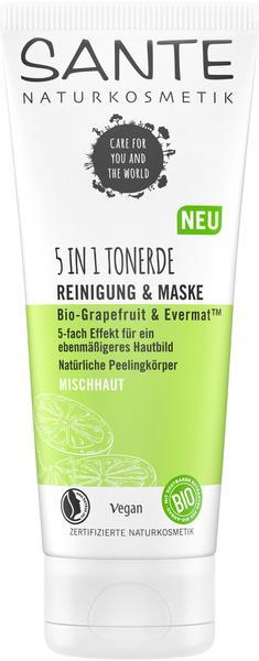 Sante Naturkosmetik Sante 5in1 Tonerde Reinigung Maske Bio-Grapefruit & Evermat (100ml)