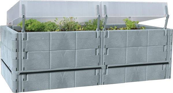Juwel Terrassen-Hochbeet / Balkon-Hochbeet basalt