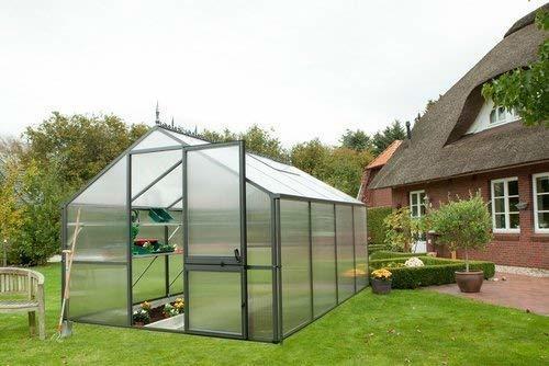 KGT Tulpe III Gewächshaus 7,5m² (16mm HKP, Alu anthrazit)
