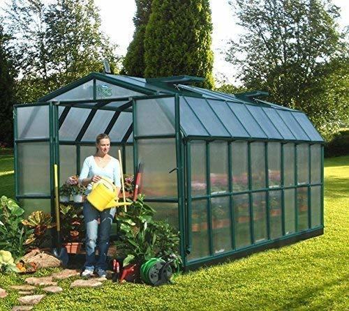 Rion garden and gardening Grand Gardener 48 Alu grün HKP 6 mmDach 4 mm 13,13 m² inkl. Fundament