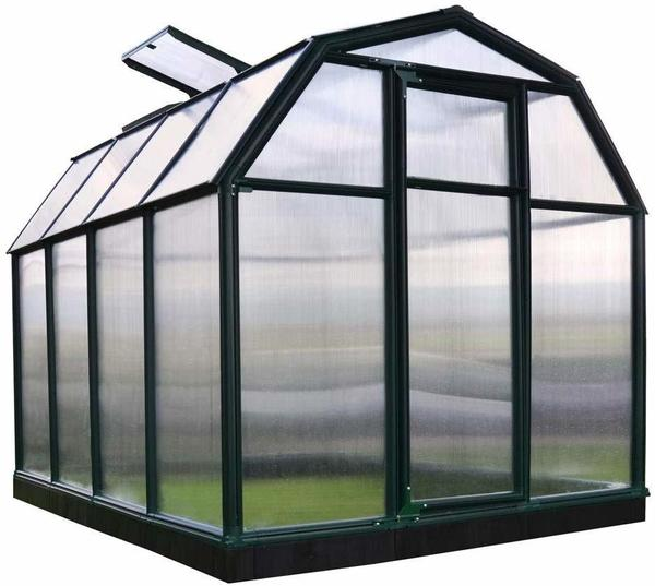 Rion garden and gardening Smart 34 Alu grün HKP 6 mmDach 4 mm 2,63 x 2,04 x 1,98 cm inkl. Fundament