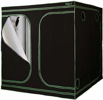zelsius-grow-tent-200-x-200-x-200-cm-schwarz-gruen-pflanzenzucht-indoor