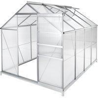 TecTake Gewächshaus 4,4 m² (4mm HKP, Alu blank)