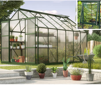 "PERGART Gewächshaus Jupiter 9900"",smaragd grün,9,9 m²"