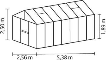 Vitavia Zeus 13800 (3mm ESG, Alu schwarz)