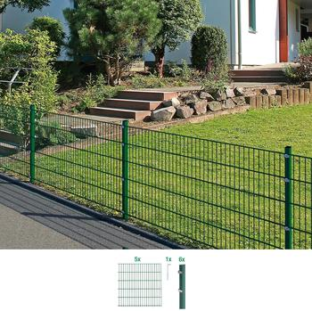 GAH-Alberts Zaun-Set Doppelstabmatte 10 m x 160 cm grün