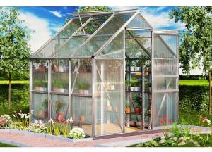 Deuba Gardebruk Aluminium Gewächshaus 5,85m³ 190x195cm Treibhaus Gartenhaus Frühbeet Pflanzenhaus Aufzucht