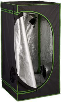 Relaxdays Growbox 120 x 60 x 60 cm schwarz/grün