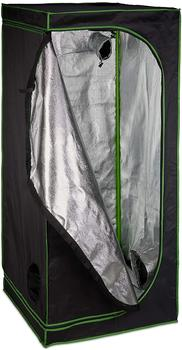Relaxdays Growbox 80 x 80 x 180 cm schwarz/grün