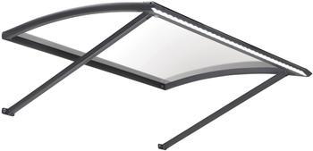 Konifera Vordach, schwarz, BxTxH: 120x95x36