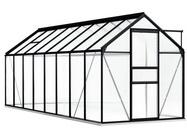 vidaXL Gewächshaus mit Fundamentrahmen Anthrazit Aluminimum 9,31 m³
