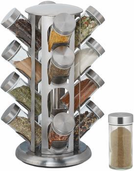 relaxdays-gewuerzkarussell-mit-16-gewuerzglaesern-360-drehbar-edelstahl-glas-hxd-33-x-22-cm-gewuerzregal-rund-silber