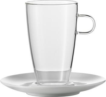 Jenaer Glas Latte Macchiato Gläser mit Untertassen