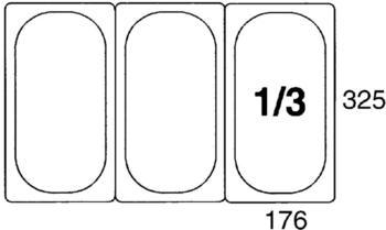 Contacto GN-Behälter 1/3, 65 mm Polypropylen