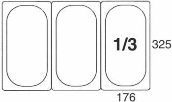 Contacto GN-Behälter 1/3, 100 mm Polycarbonat