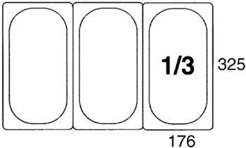Contacto GN-Behälter 1/3, 200 mm Polypropylen