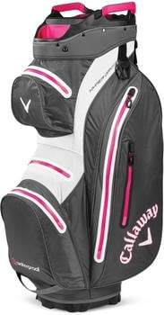 Callaway Hyper Dry Cartbag 15 charcoal/white/pink