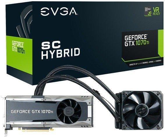 EVGA GeForce GTX 1070 Ti SC Hybrid Gaming 8GB GDDR5
