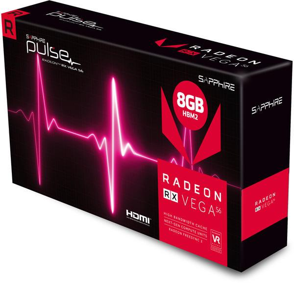 Sapphire Radeon RX Vega56 Pulse 8GB HBM2