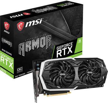 MSI GeForce RTX 2070 ARMOR OC Grafikkarte 3x DisplayPort, HDMI, USB-C