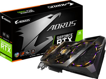 Gigabyte GeForce RTX 2080 AORUS - 8GB GDDR6 Grafikkarte 3x DisplayPort, 3x HDMI, USB-C