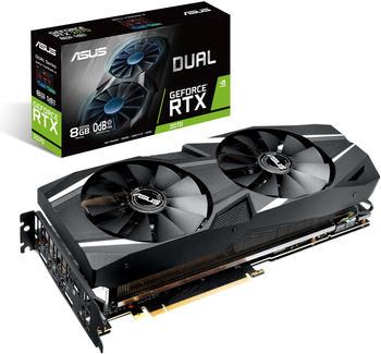 Asus GeForce RTX 2070 Dual Grafikkarte - Grafikkarten - GF Rtx2070-8G PCI-Express (90YV0C84-M0NA00)