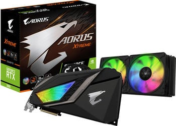 Gigabyte Aorus GeForce RTX 2080 Xtreme Waterforce 8GB GDDR6 Grafikkarte - 3x DisplayPort/3x HDMI/USB-C
