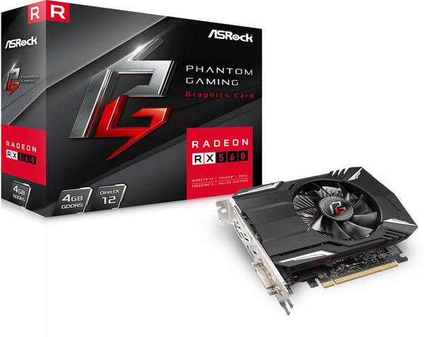 Asrock Asro4GB D5 Phantom Gaming Radeon RX560 (90-GA0620-00UANF)