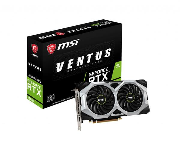 MSI GeForce RTX 2060 Ventus OC 6GB GDDR6