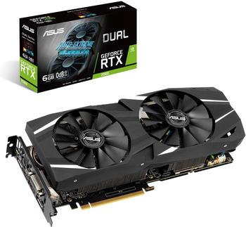 Asus GeForce RTX 2060 Dual 6GB GDDR6 Grafikkarte - 2x DisplayPort, 2x HDMI, 1x DVI