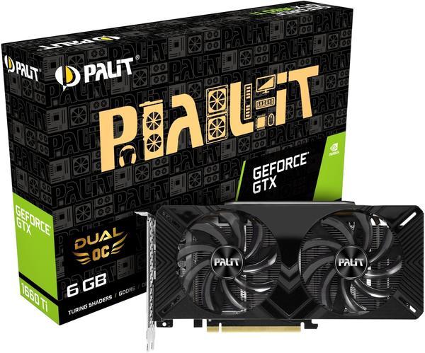 Palit XpertVision GeForce GTX 1660 Ti Dual OC 6GB GDDR6
