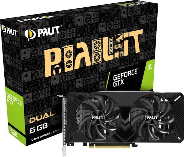 Palit XpertVision GeForce GTX 1660 Dual 6GB GDDR5