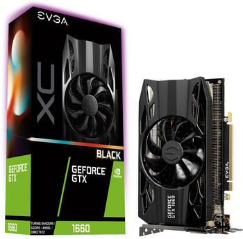 evga GTX 1660 XC Black Gaming, 6GB GDDR5, HDB Lüfter, Grafikkarte 06G-P4-1161-KR