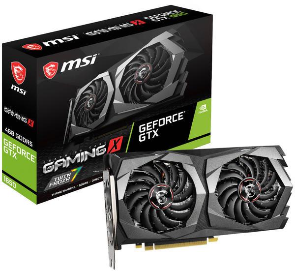MSI GeForce GTX 1650 Gaming X 4GB GDDR5