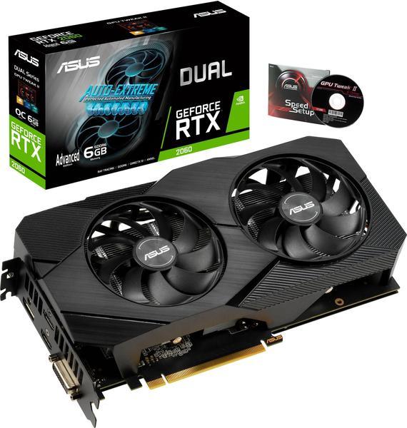 Asus GeForce RTX 2060 Dual EVO Advanced 6GB GDDR6 1365MHz (90YV0CH3-M0NA00)