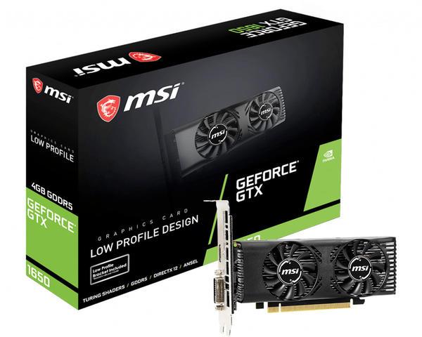 MSI GeForce GTX 1650 LP 4GB GDDR5