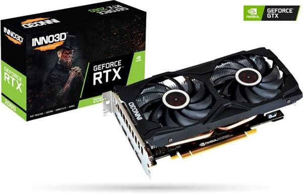 Inno3D GeForce RTX 2060 Twin X2 6GB GDDR6 1365MHz (N20602-06D6-1710VA15)
