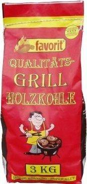 Favorit Qualitäts-Grill Holzkohle 3 kg