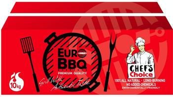 EuroBBQ Holzkohlebriketts rot 10 kg