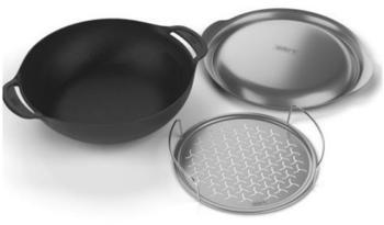 Weber Gourmet BBQ Wok Set inklusive Deckel und Dünsteinsat