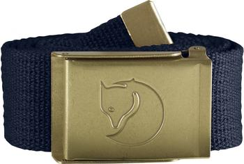Fjällräven Canvas Brass Belt dark navy