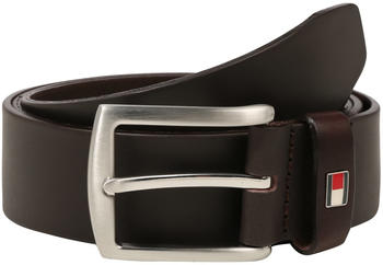 Tommy Hilfiger Denton Rounded Buckle Leather Belt testa di moro (E3578A1208-965)