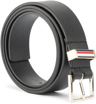 Tommy Hilfiger Square Buckle Leather Belt black (AW0AW07659)