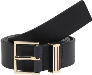 Tommy Hilfiger Square Buckle Leather Belt sky captain (AW0AW07659)
